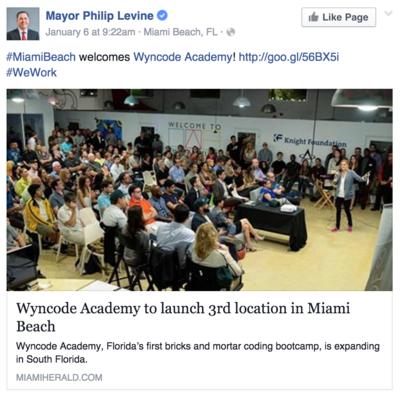 mayor-welcomes-Wyncode-to-Miami