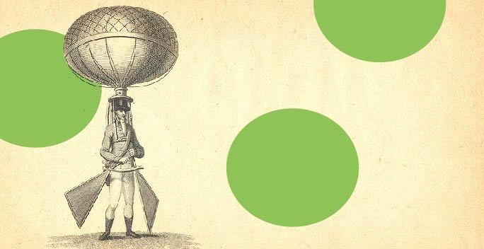 19th-century-invention-man-balloon-on-head-holding-paddles