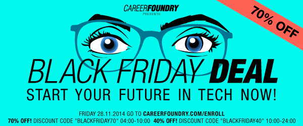 Black Friday At Career Foundry Course Report