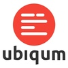 Logo ubiqum badge color white