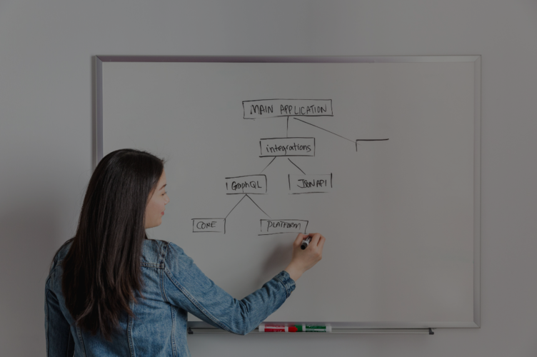 Teaching fellow teacher assistant coding class whiteboard