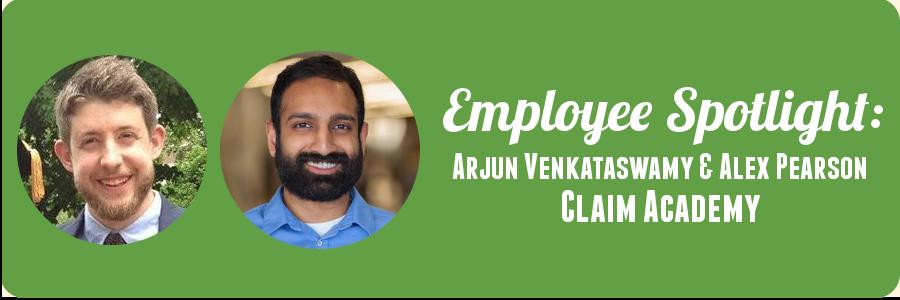 claim-academy-employee-spotlight-alex-pearson-arjun-venkataswarmy