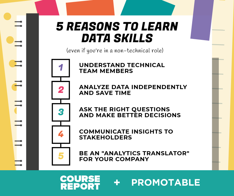 5 reasons to learn data skills infographic