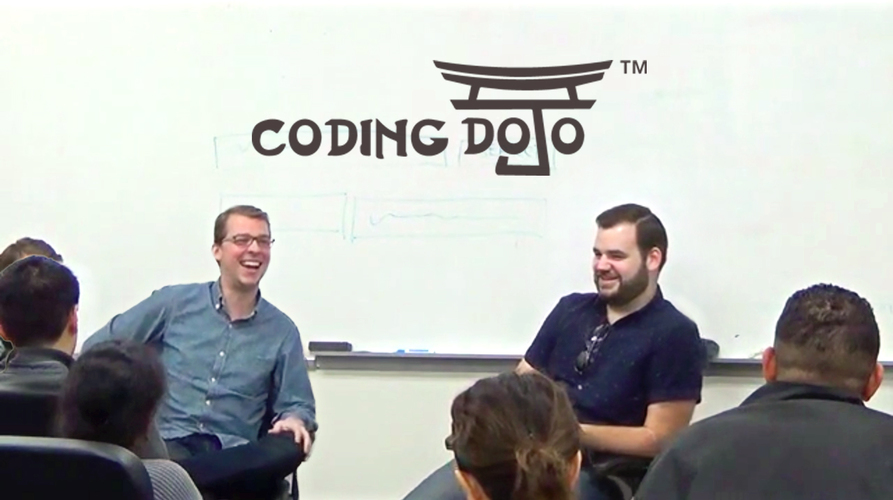 coding-dojo-tech-talk-bootstrap-founder-speaking-to-audience