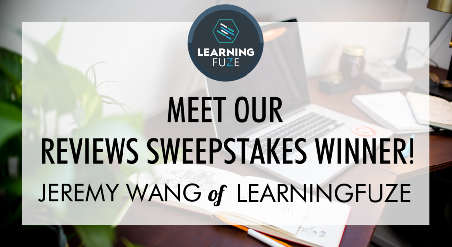Course Report coding bootcamp review sweepstakes winner Jeremy Wang of LearningFuze