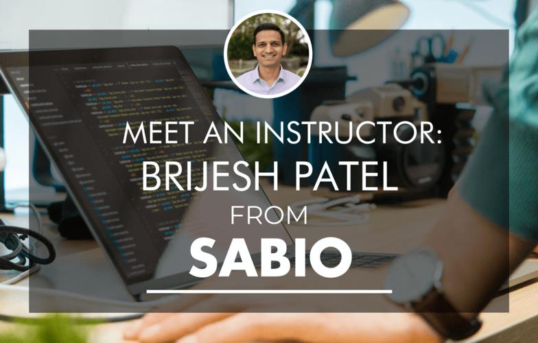 Sabio coding bootcamp instructor Brijesh Patel