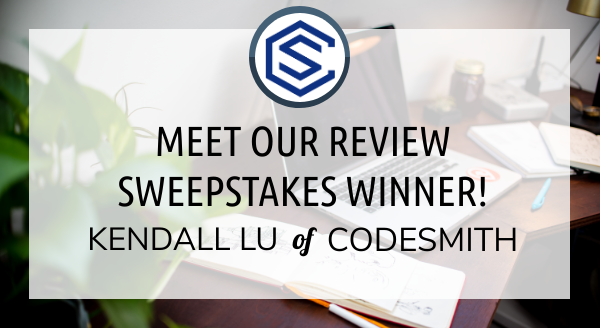 Meet Our Review Sweepstakes Winner: Kendall Lu of Codesmith