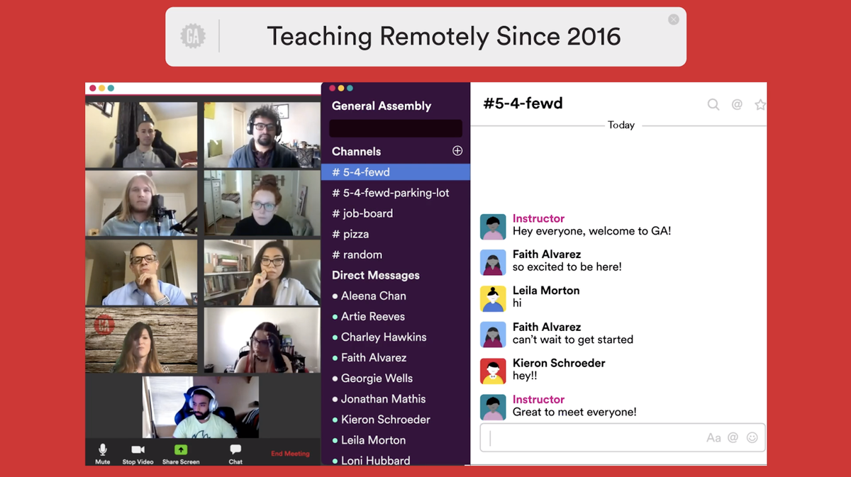General Assembly Virtual Classroom Tour